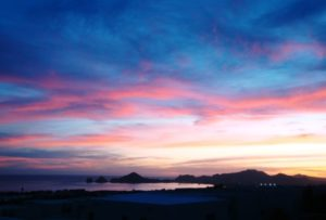 Sunsets over Cabo Arch