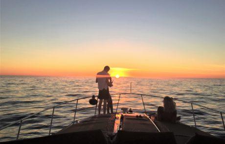 Sunset on Sailboat